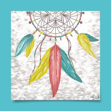 tableau-affiche-décoration-attrape-reve-plumes