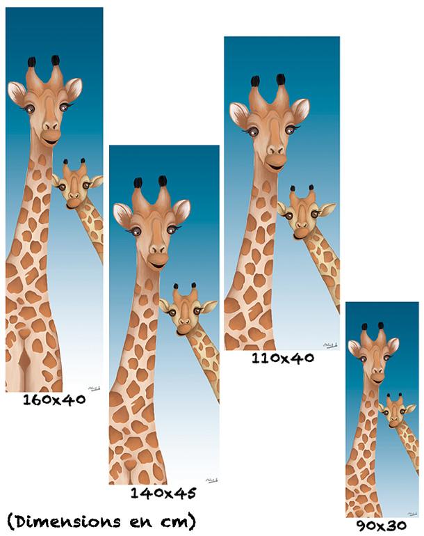 tableau-affiche-papier-aluminium-tailles-décoration-girafes