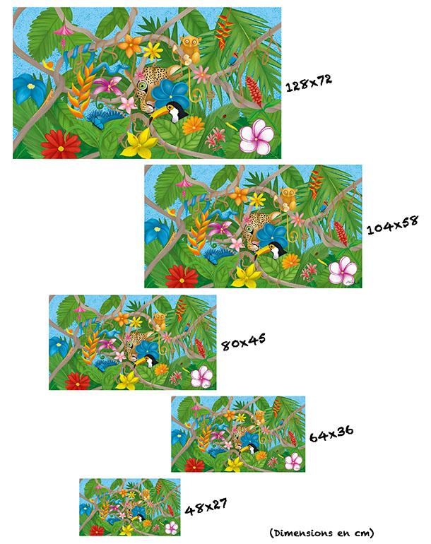tableau-affiche-papier-aluminium-tailles-décoration-jungle-florale