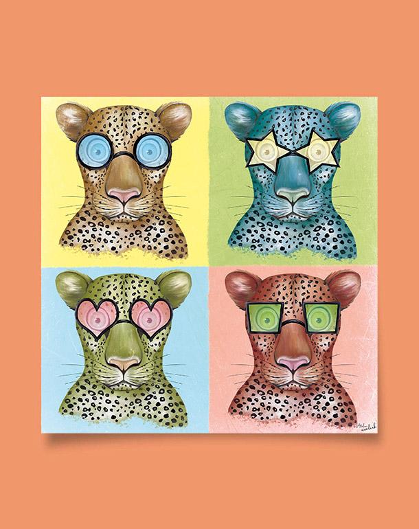 tableau-décoration-enfant-léopard-à-lunettes