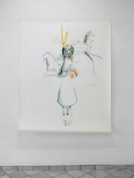 Adèle Occuly // Totem 1 // techniques mixtes sur papier / 2007