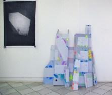 Guillaume Mathivet // Sans titre // tirage de plans // 2013 // Sans titre // acrylique et aérosols sur bois, dimensions variables // 2013