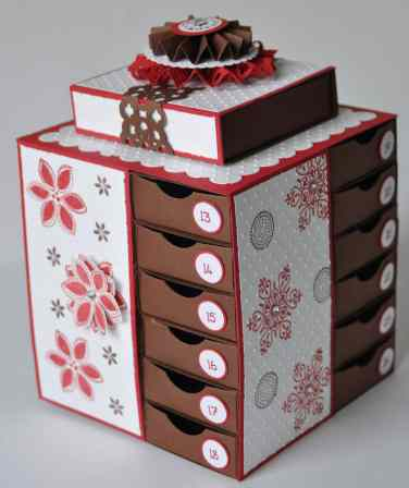 Calendrier de l'avent Scrap Stampin up 2011 2