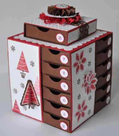 Tutoriel calendrier de l'avent Marie Meyer Stampin up