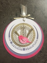 Carte d'invitation première communion caméo par Marie Meyer Stampin up - http://ateliers-scrapbooking.fr/