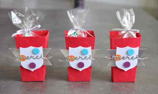 Boîtes à gourmandises LEGO Thinlits Popcorn Box par Marie Meyer Stampin up - http://ateliers-scrapbooking.fr/ - Popcorn Box Thinlits - Thinlits Popcorn-Schachtel