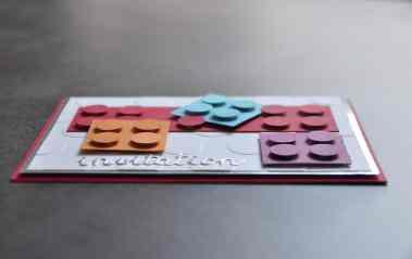 Cartes d'invitation LEGO par Marie Meyer Stampin up - http://ateliers-scrapbooking.fr/