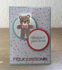 Carte de félicitation de naissance pop up twist Emporte pièce de Noël par Marie Meyer Stampin up - http://ateliers-scrapbooking.fr/ - Cookie Cutter Christmas Stamp set - Ausgestochen weihnachtlich stempel