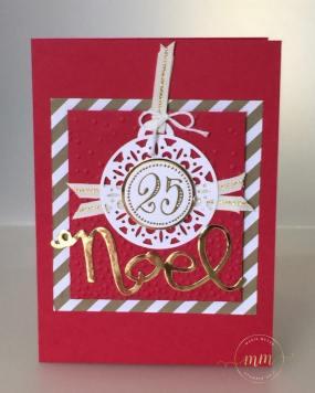 Cartes de Noël Framelits Joyeuses Etiquettes par Marie Meyer Stampin up - http://ateliers-scrapbooking.fr/ - Merry Tags Framelits Dies - Frôhliche Anhänger Framelits Fromen