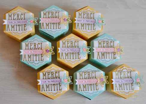 Boîtes à gourmandises Thinlits Jardinières par Marie Meyer Stampin up - http://ateliers-scrapbooking.fr/ - Window Box Thinlits Dies - Fensterschachtel Thinlits