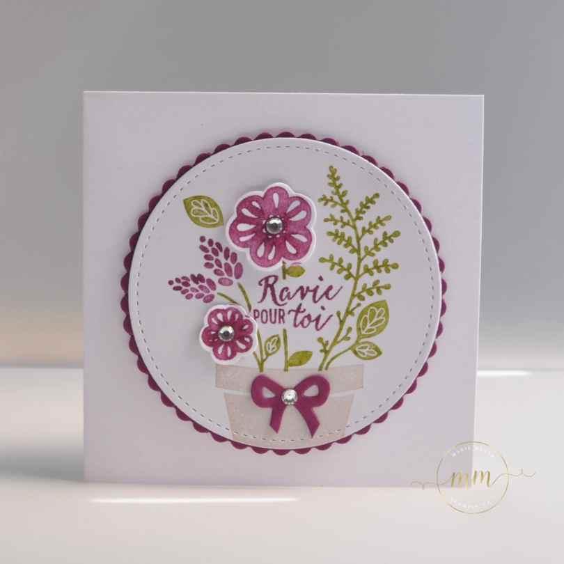 Cartes de remerciements Planté par amour par par Marie Meyer Stampin up - http://ateliers-scrapbooking.fr/ - Grown With Love - Ans Herz Gewachsen Stamp Set