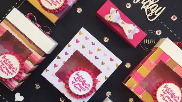 Boites à gourmandises anniversaire Peint avec amour et son tutoriel