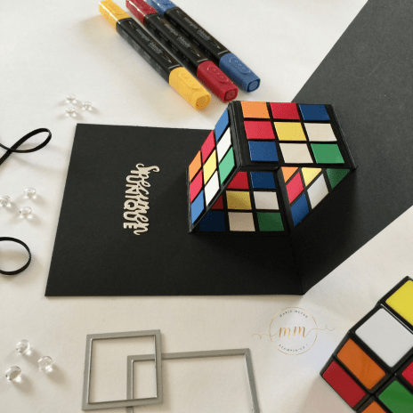 CARTE ANNIVERSAIRE POP UP RUBIK S CUBE 2018 7