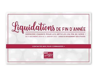 Liquidation de fin d'année