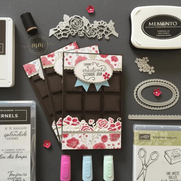 Carte tablette de chocolat De tout mon coeur 2019 2