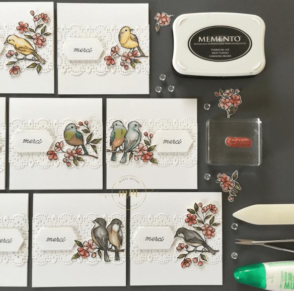 Cartes de remerciements Ballade des Oiseaux 2019 6