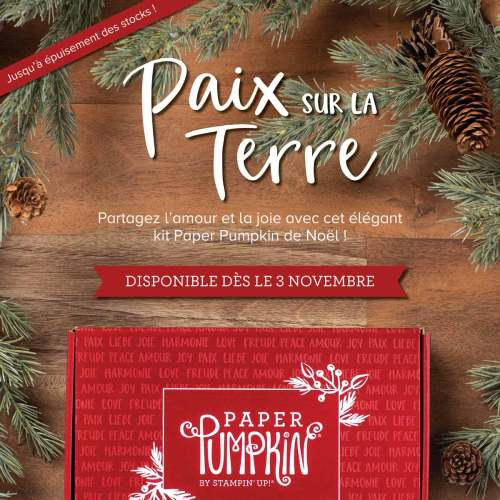 """Kit Paper Pumkin de Noël """"Paix sur terre"""""""