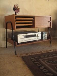 meuble hi fi vinyles annees 50 60