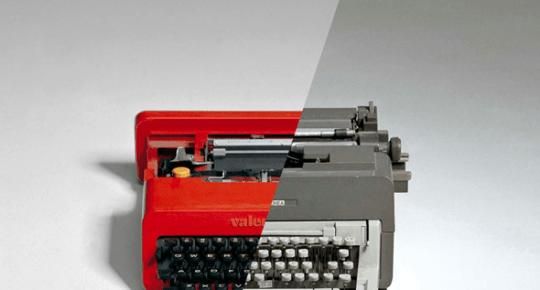 26 typewriters exhibition exit creative