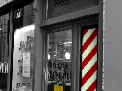 The barbershop pole, History of