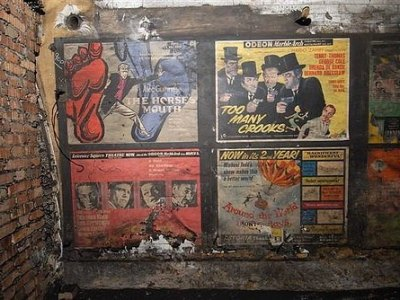 50s posters found at Notting Hill Gate Station