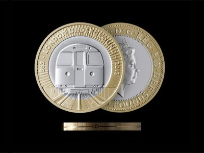 Barber Osgerby design new £2 coin commemorating 150 years of the London Underground