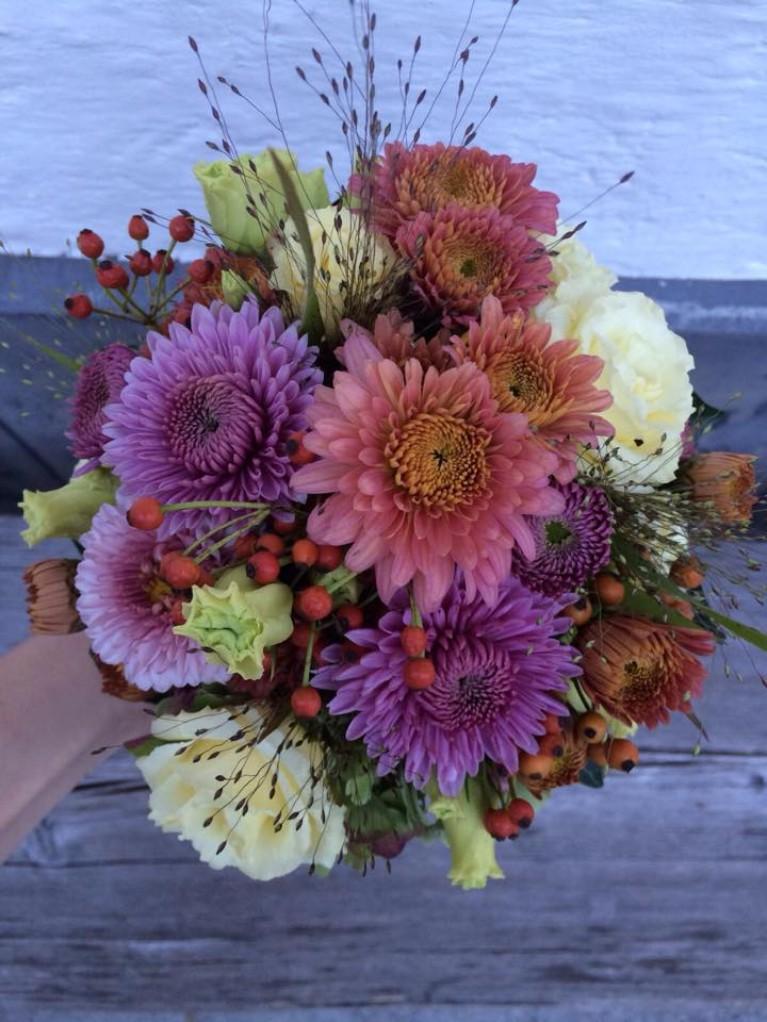 Blumen Oktober Hochzeit