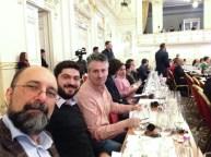 Dan Bundur, managerul proiectului M1. Crama Atelier, Valentin Ceafalau si Tamas Dobos, unul dintre organizatorii VinCE 2015