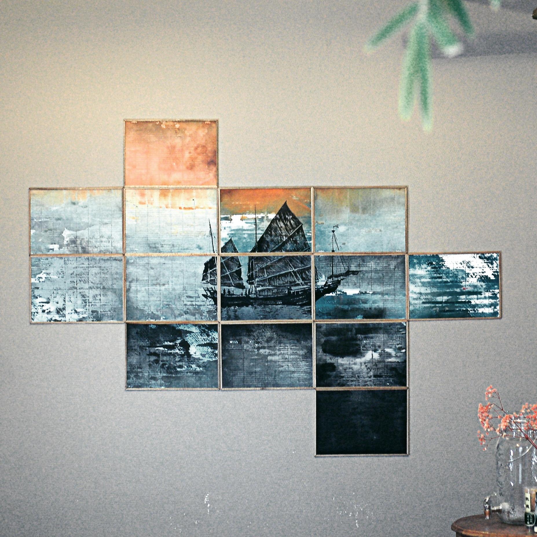 tableau d coratif mural joncque l 39 atelier vagabond. Black Bedroom Furniture Sets. Home Design Ideas