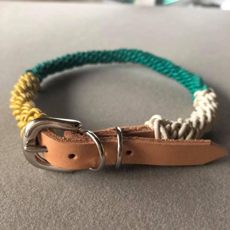 犬の首輪、レザー首輪、オーダーメイド、ハンドメイド、革首輪、Allons-y!