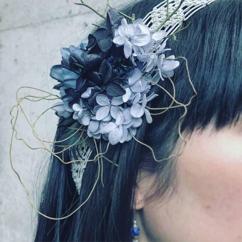 ヘッドドレス、結婚式、ブライダルアクセサリー、アトリエ・nest、ontheleaf