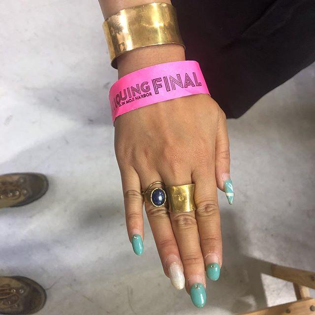 指輪、真鍮、カイヤナイト、アンティーキング、門司港、アトリエ・nest