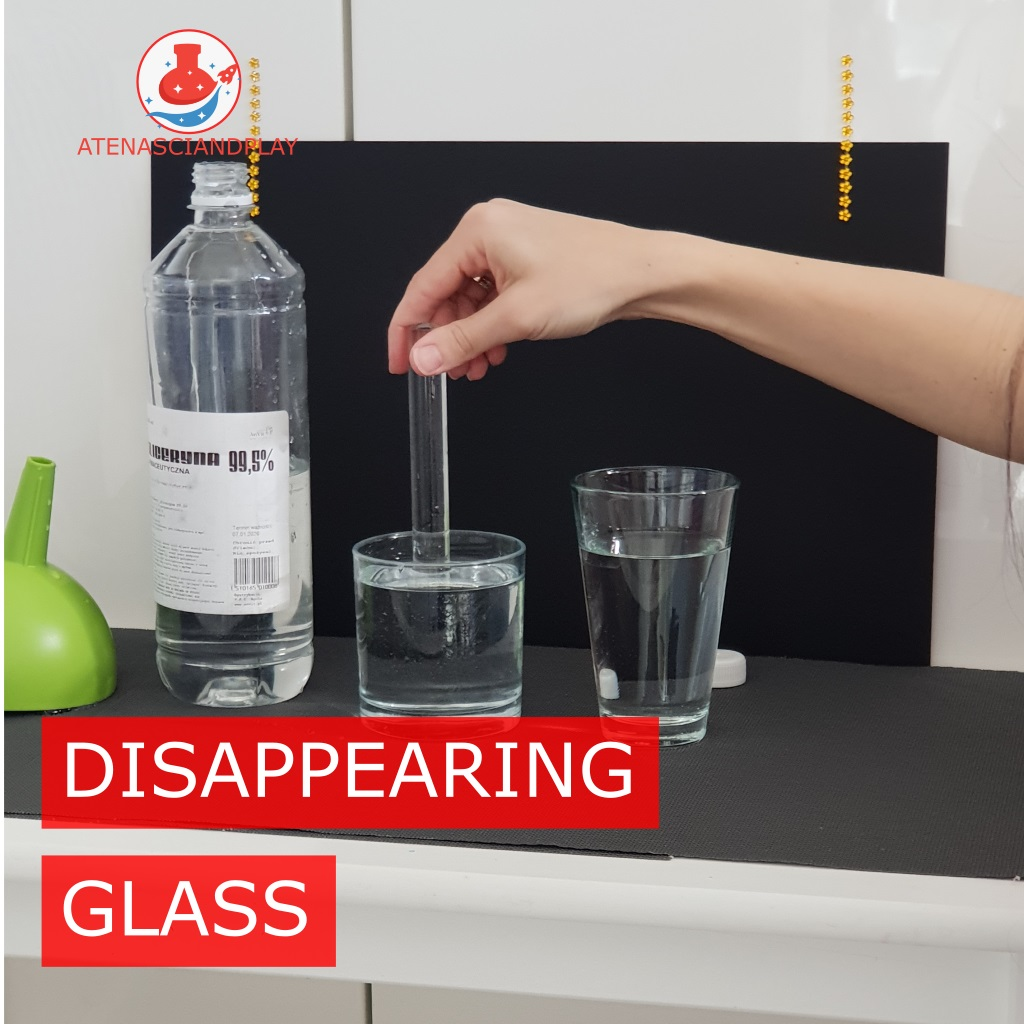 How to make a disappearing glass?