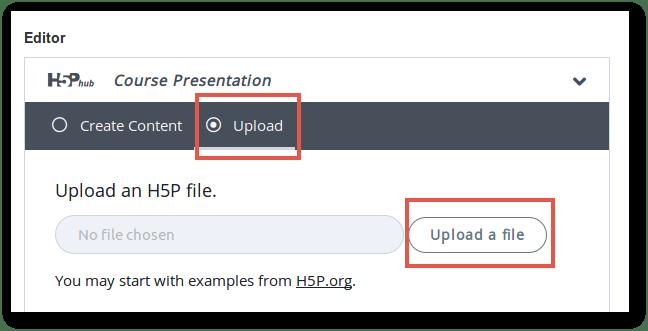Paràmetres generals de configuració d'una activitat H5P