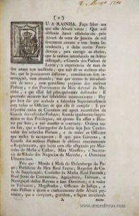 Alvará, Por que Vossa Majestade há Por Bem das por Acabada a Superintendência dos Pinhaes de Leiria, e Oficiais de que ela se Compõe; e por Suspensos todos os Couteiros, e Suprimidos os Seus Privilégios, Estabelecendo em seu Lugar Uma Interina Administração, e Regulamento, Tudo na Forma Acima Declarada - Palácio Nossa Senhora da Ajuda 17 de Março de 1790 - (Fol - 8) - «€50.00» (33)