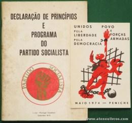 """Declaração de Princípios e Programa do Partido Socialista - Texto""""Portugal Socialista"""" / Unidos Pela Liberdade pela Democracia / Povo e Forças Armadas - Maio 1974 - Peniche - «€10.00»"""