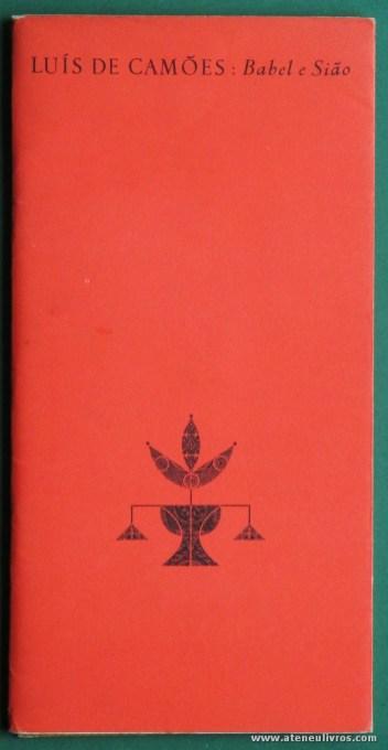 Luís de Camões: Babel e Sião - Livraria Sá da Costa Editora - «€5.00»