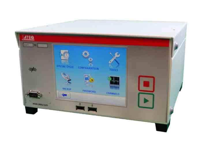 continuous flow air leak detector