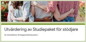 Utvärdering av studiepaket för stödjare