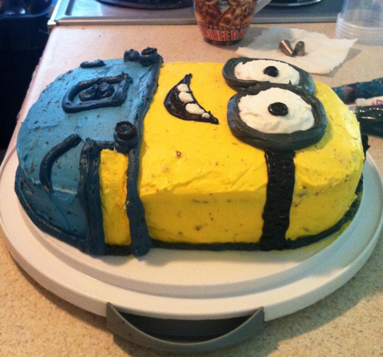 Buttercream Icing Minion Cake