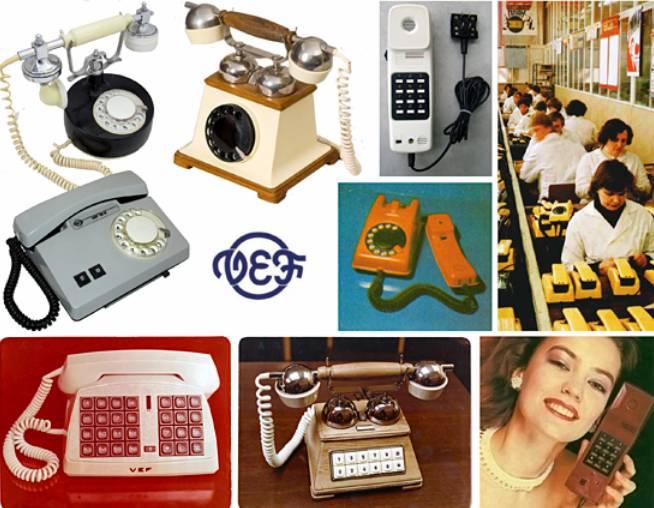 Διάφορα μοντέλα τηλεφωνικών συσκευών VEF