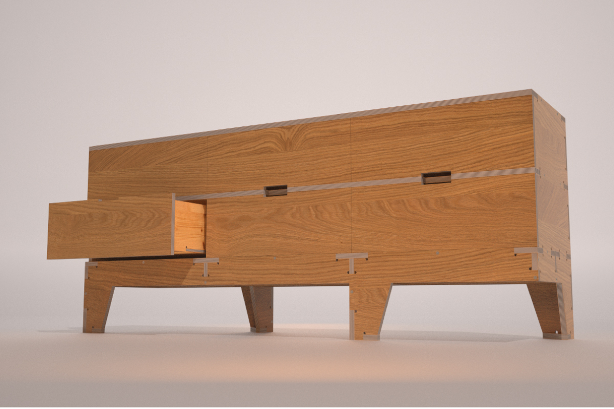 Plywood Chest Of Drawers