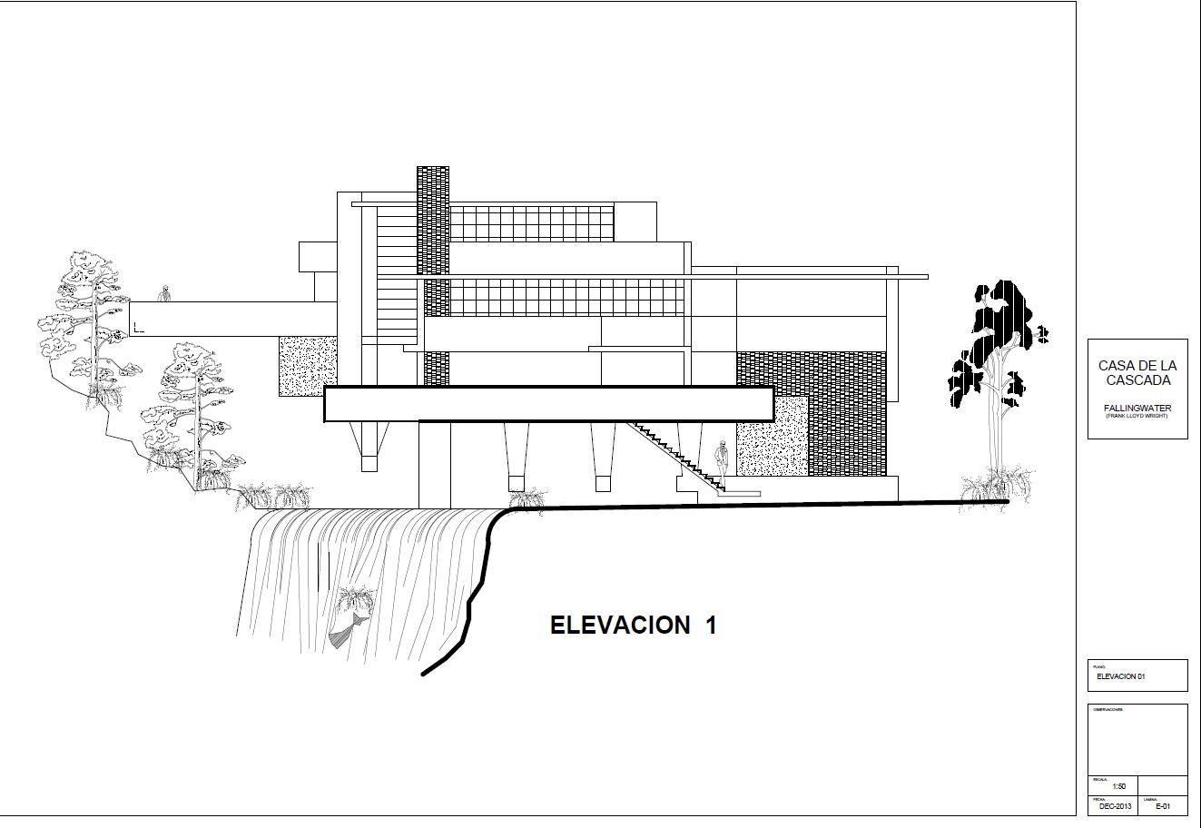 Casa Kaufmann Planos Autocad