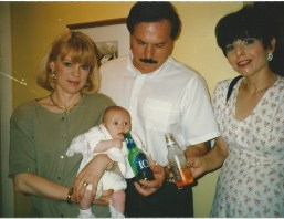 Bernie pretending to give my daughter beer. (Notice a theme here?)