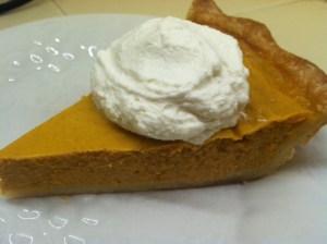 Always a contender pumpkin pie.