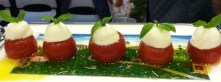 Ridiculously cute tomato appetizers.