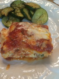 Yummy lasagne close up