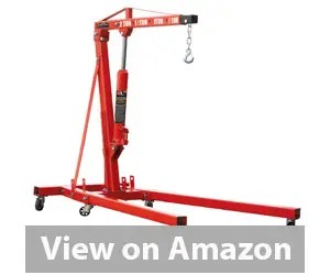 Best Engine Hoist - Torin Big Red Steel Engine Hoist / Shop Crane with Foldable Frame, 1 Ton Review