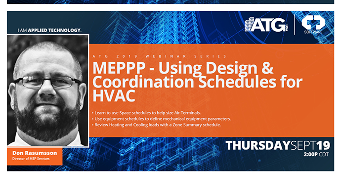 ATG Webinars: Using Pipe Network Express Tools to Quickly Model Existing Networks & Using Design & Coordination Schedules for HVAC