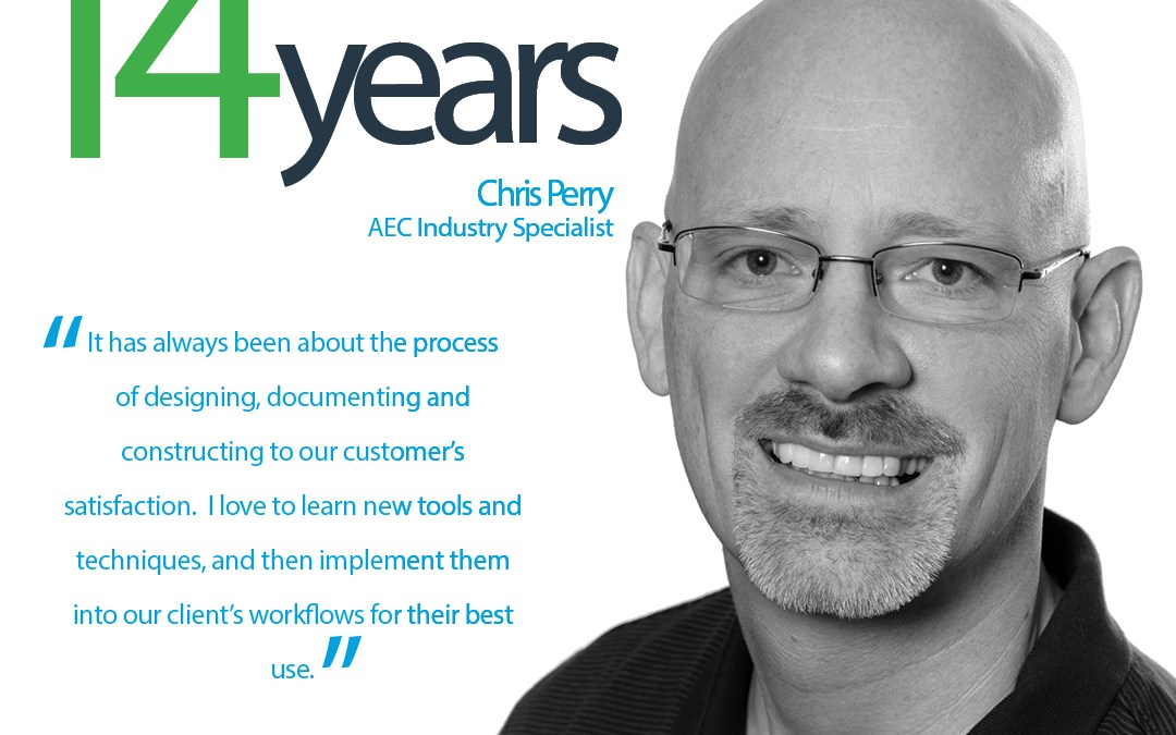 Happy 14-Year ATG Anniversary to Chris Perry, AEC Industry Specialist